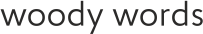 Woody Words. Объемные логотипы и слова из дерева.
